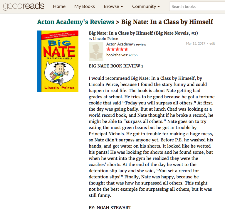 goodreads BOOK REVIEW — Acton Academy Phoenix