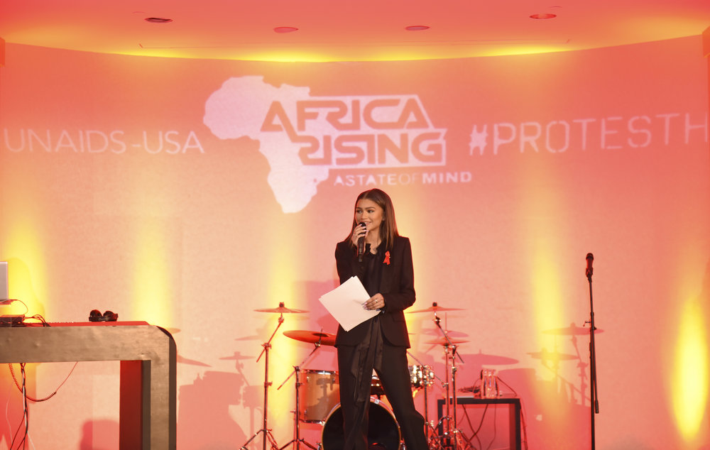 Zendaya hosts World AIDS Day Benefit for UNAIDS & Africa Rising