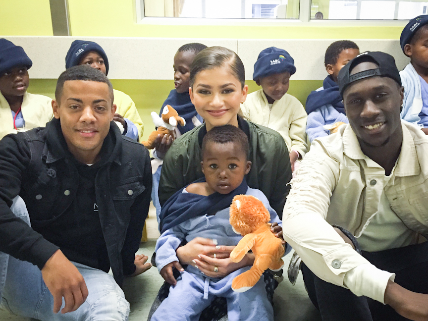 Zendaya and Nico & Vinz in SA with UNAIDS