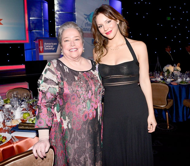 Kathy Bates & Katharine McPhee at American Cancer Society Birthday Ball