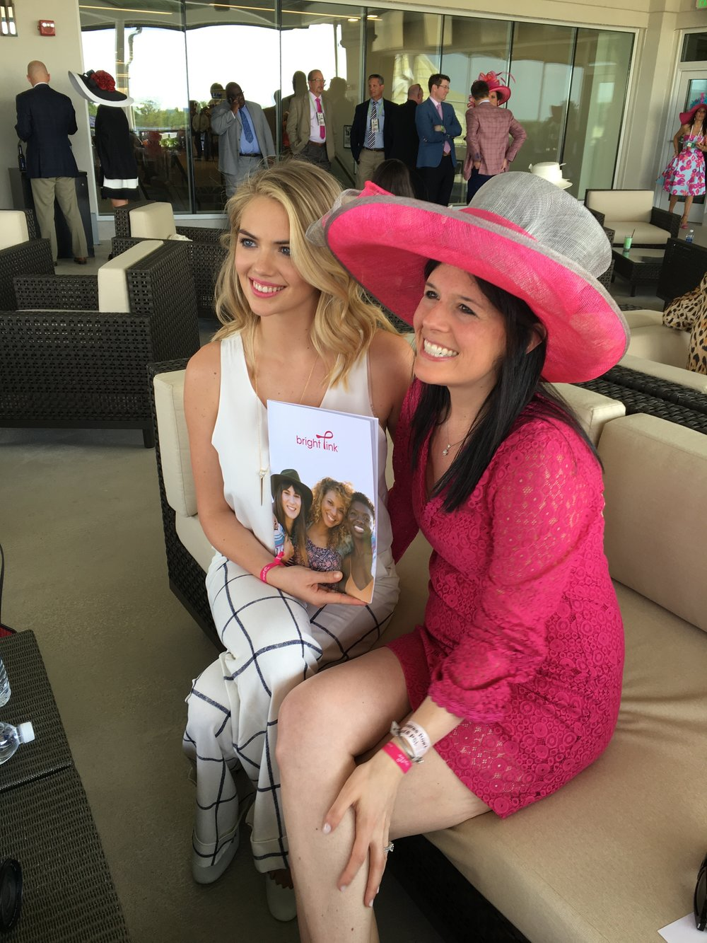 Kate Upton supporting Bright Pink at the Kentucky Oaks