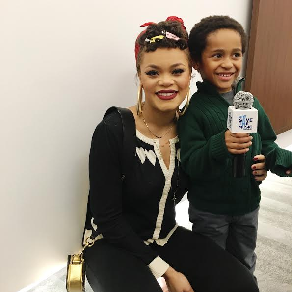 Andra Day supporting VH1 Save the Music Foundation in NYC