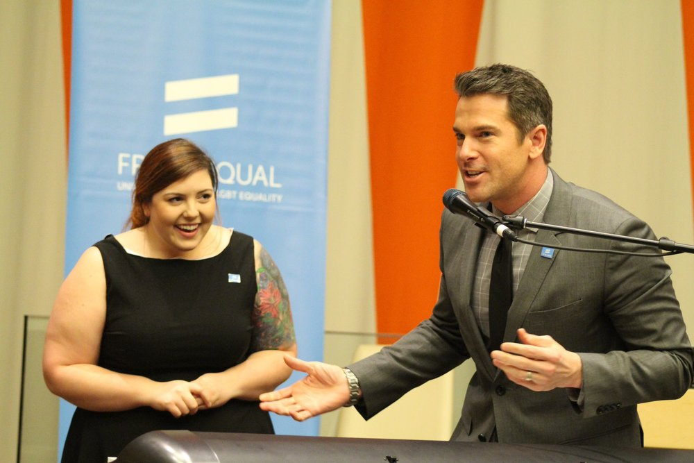 Mary Lambert & Thomas Roberts at the United Nations in NYC