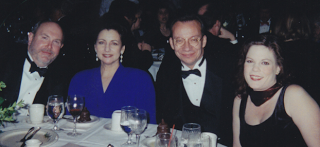 (L-R) The Colonel, his better half, me, mine, at the 1999 Inaugural in Topeka.