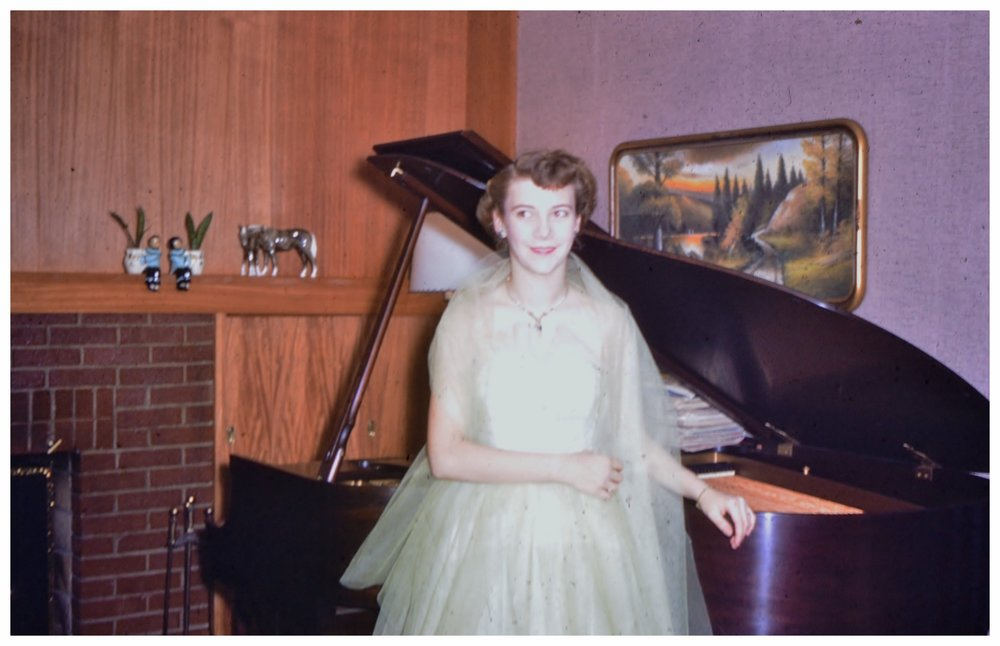 Mom at 16 with her baby grand.