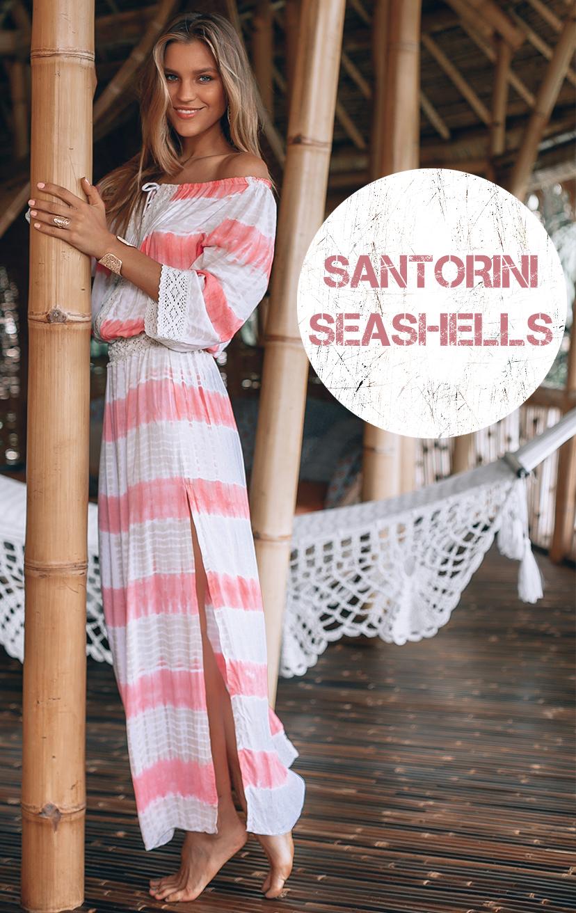 DRESS CARICOCA Off shoulder maxi dress, drop waist, side slits,lace detail on top, waist & cuff RAYON VOILE   XS-S-M-L