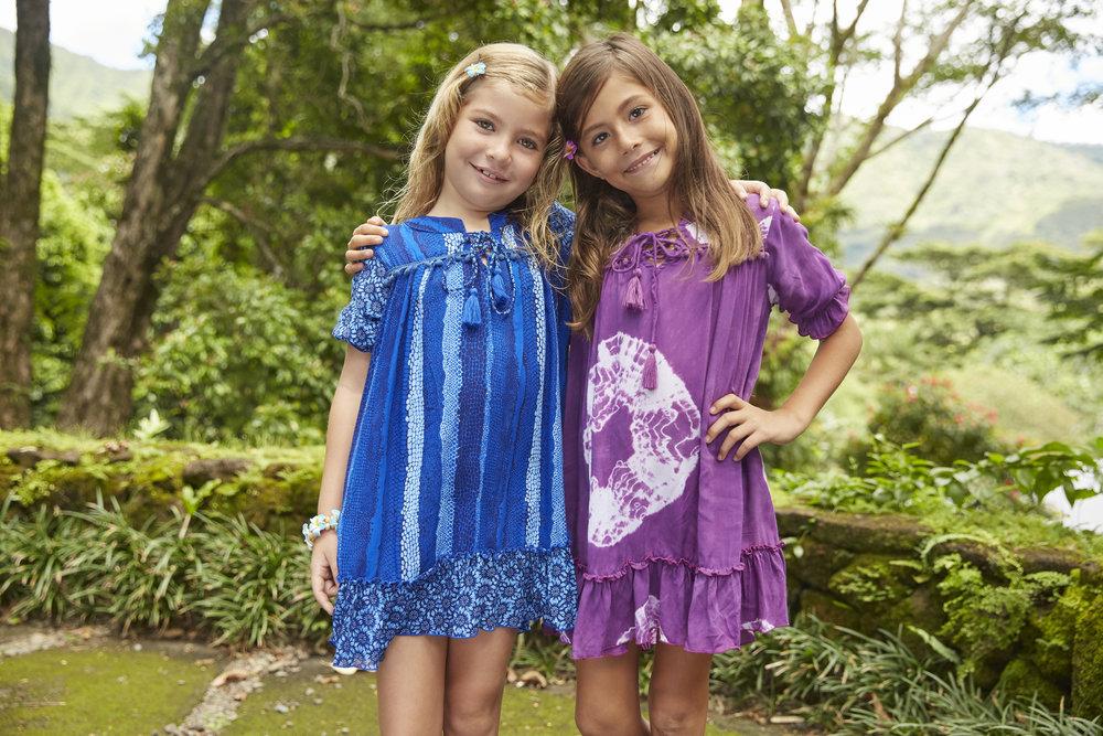 DRESS RAINBOW Short puffy slvs slv front lattice tunic dress, bottom ruffle, small ruffle detail trims 100% RAYON | 2/3 | 4/5 | 6/7 | 8/10