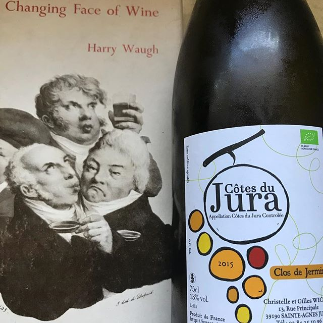 "Harry Waugh would have said ""Distinguished bouquet, very good flavour , a good bottle"" 2015 Domaine Wicky Clos De Jerminy. My favourite wine that I import at the moment. #jura #chardonnay #domainewicky #frenchwine #wine #franchecomte #StAgnes #vintage #france #wherehaveallthelegendsgone?"