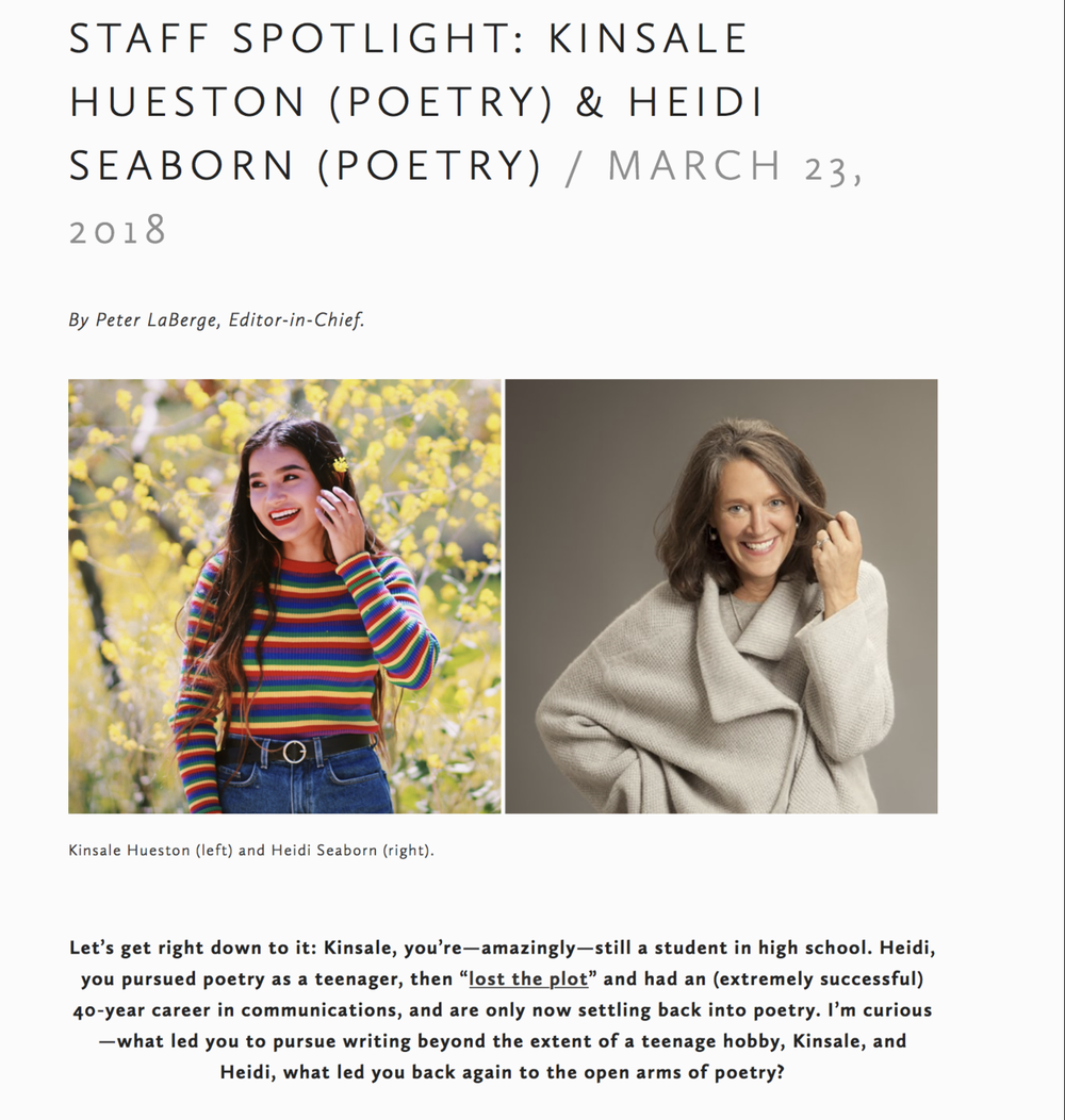 talking influences with Kinsale Hueston and Peter LaBerge