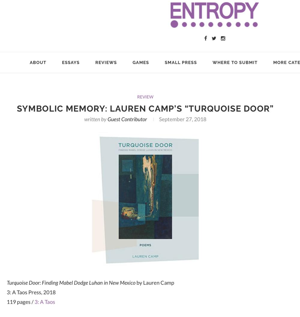 Review of Turquoise Door by Lauren Camp