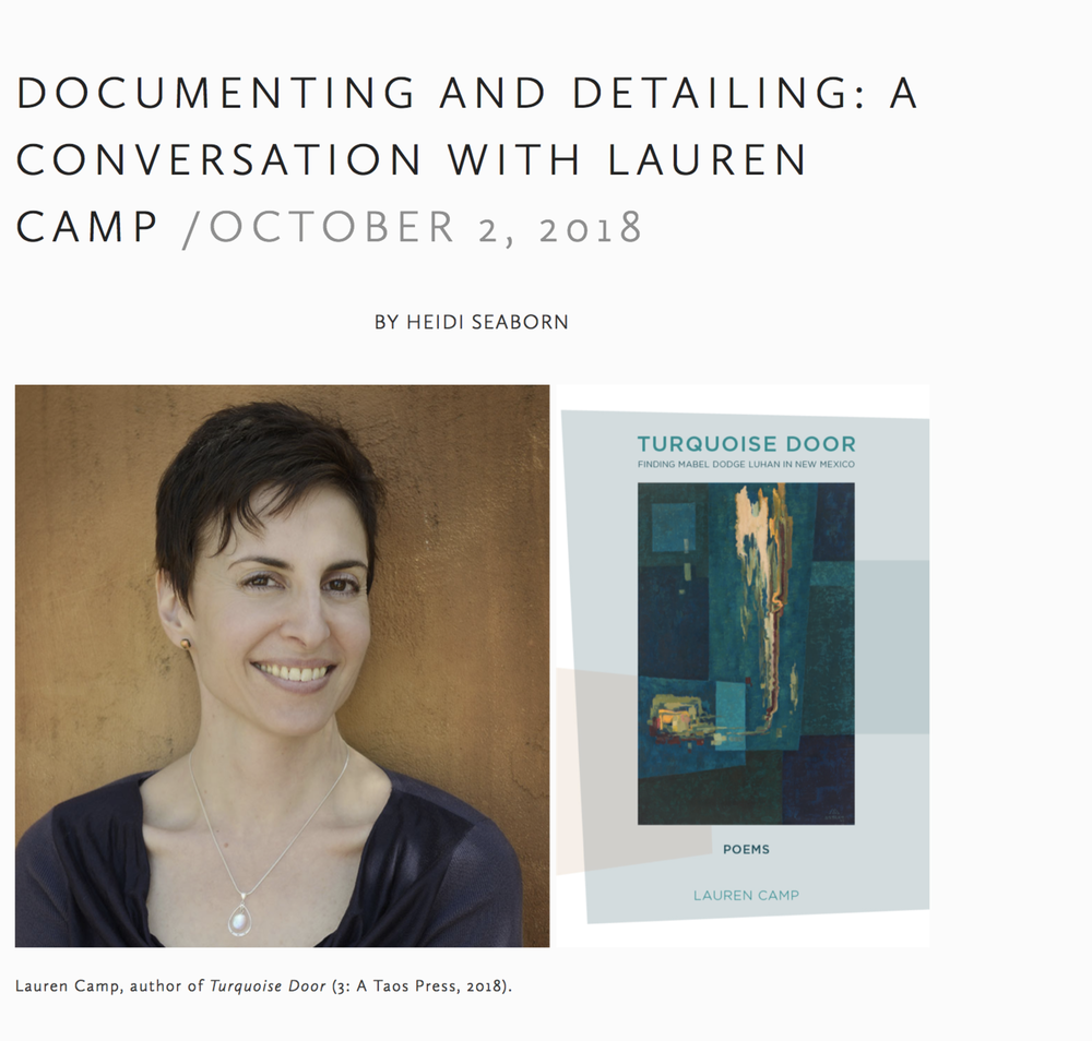 Interview with Lauren Camp in The Adroit Journal