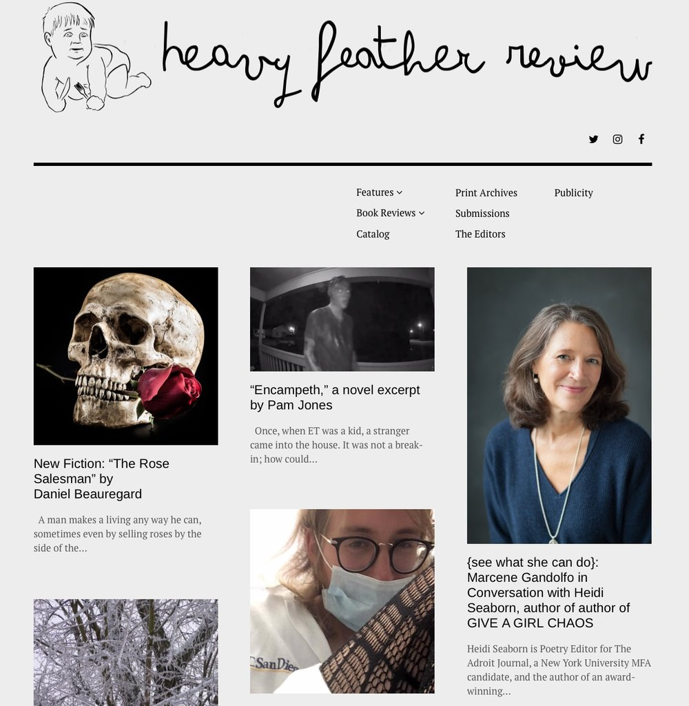 Terrific interview with Marcene Gandolfo in Heavy Feather Review