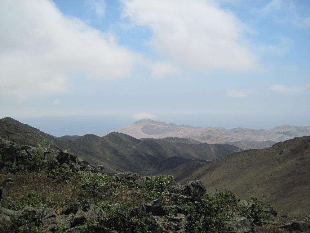 Vista panorámica de la loma Paloma, Chilca (2016)