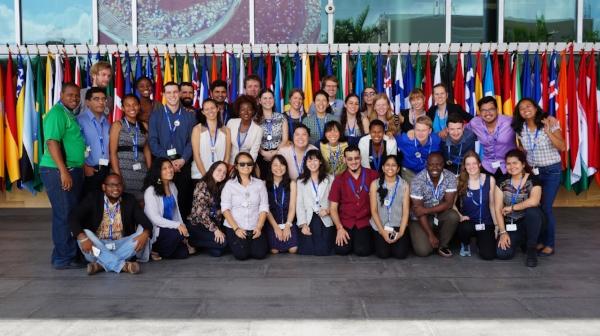 Delegación Joven en la COP13. Fuente: Global Youth Biodiversity Network