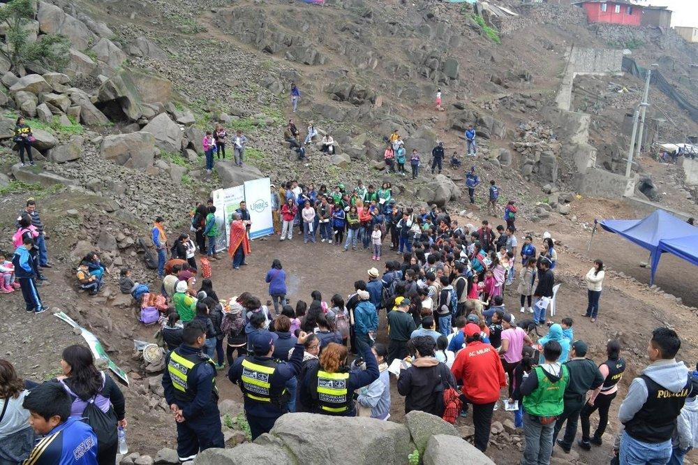 El Festival inició con la ceremonia de apertura del Circuito Ecoturístico de las Lomas de Amancaes.