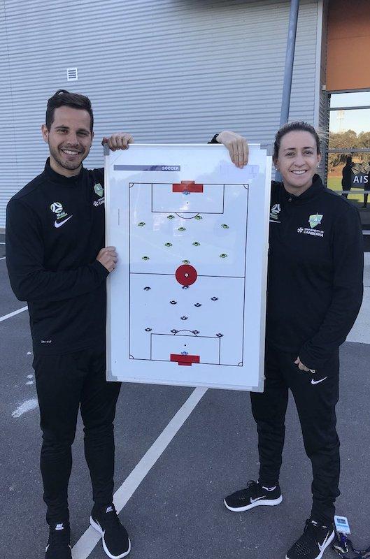 Canberra United's Heather Garriock & Alex Epakis