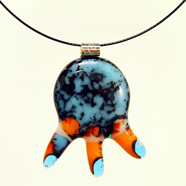 Glass pendant 'Lisha'