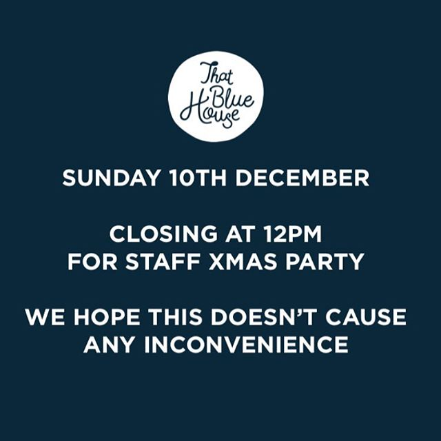 Hi everyone 👋 we will be closing early today so all the staff can celebrate the Christmas season together ! Thank you for understanding and sorry for any inconvenience 🤙🎄🎉