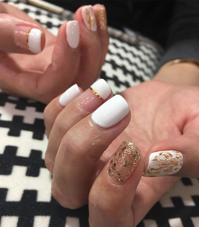 When can you decide between foil, glitter, tape or French, a perfect gel manicure is created!