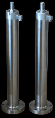 Hydraulic cylinders in SS 304 for agitator /stirrer movement.
