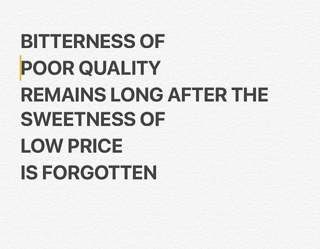 #thoughtfortheday But, what if you get long lasting sweetness of quality work with the short lasting sweetness of low price!  #changeisgood #everythingispossible