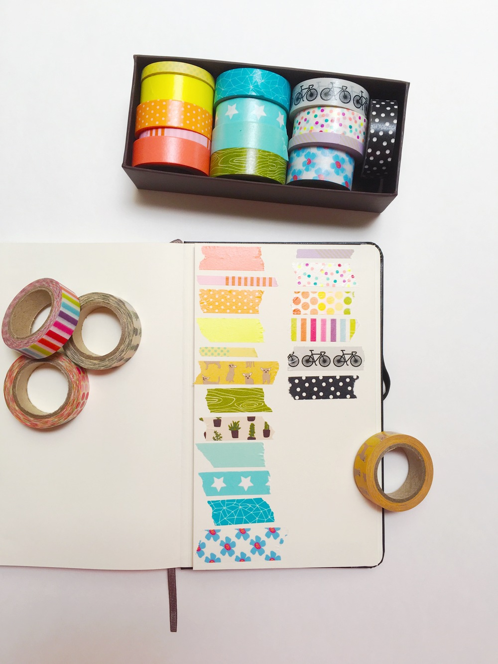 Colorful Page: Add A Washi Tape Directory in the Back of your Bullet Journal