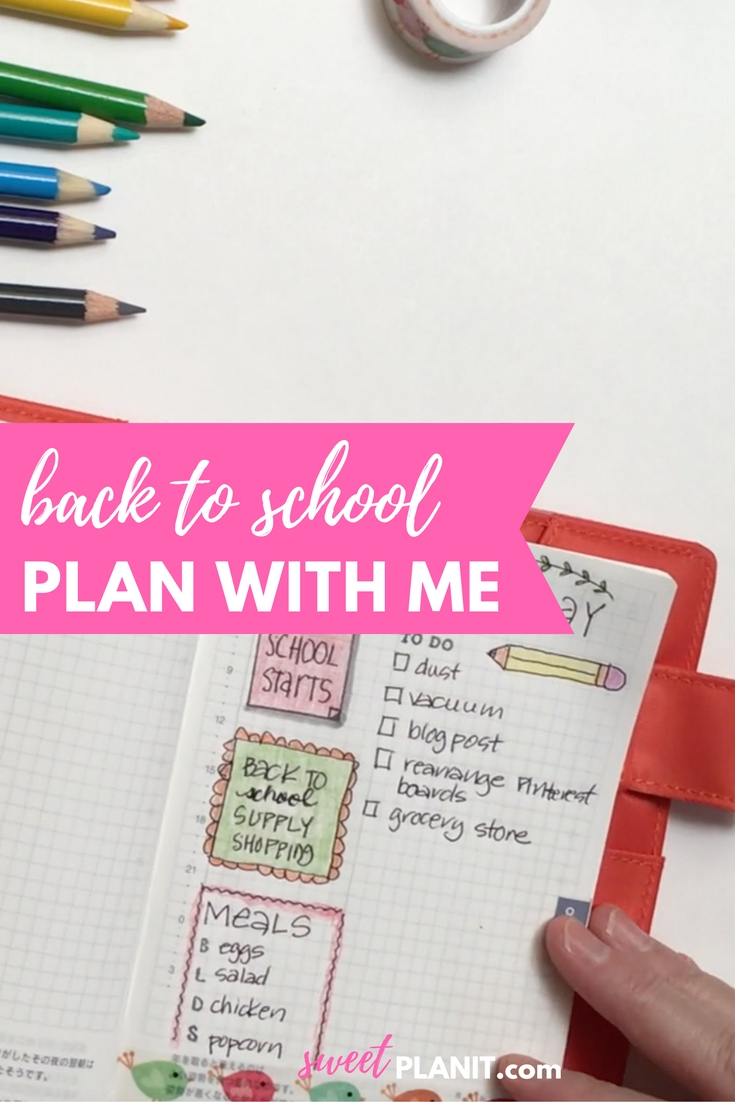 Plan with Me | Back to School