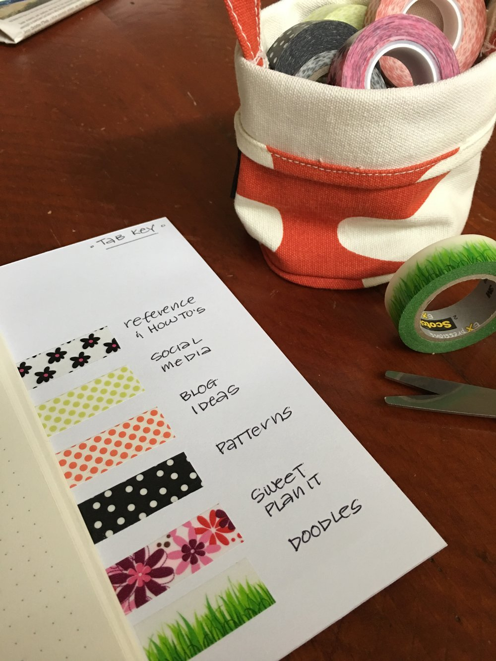 Washi Tape and Bullet Journal