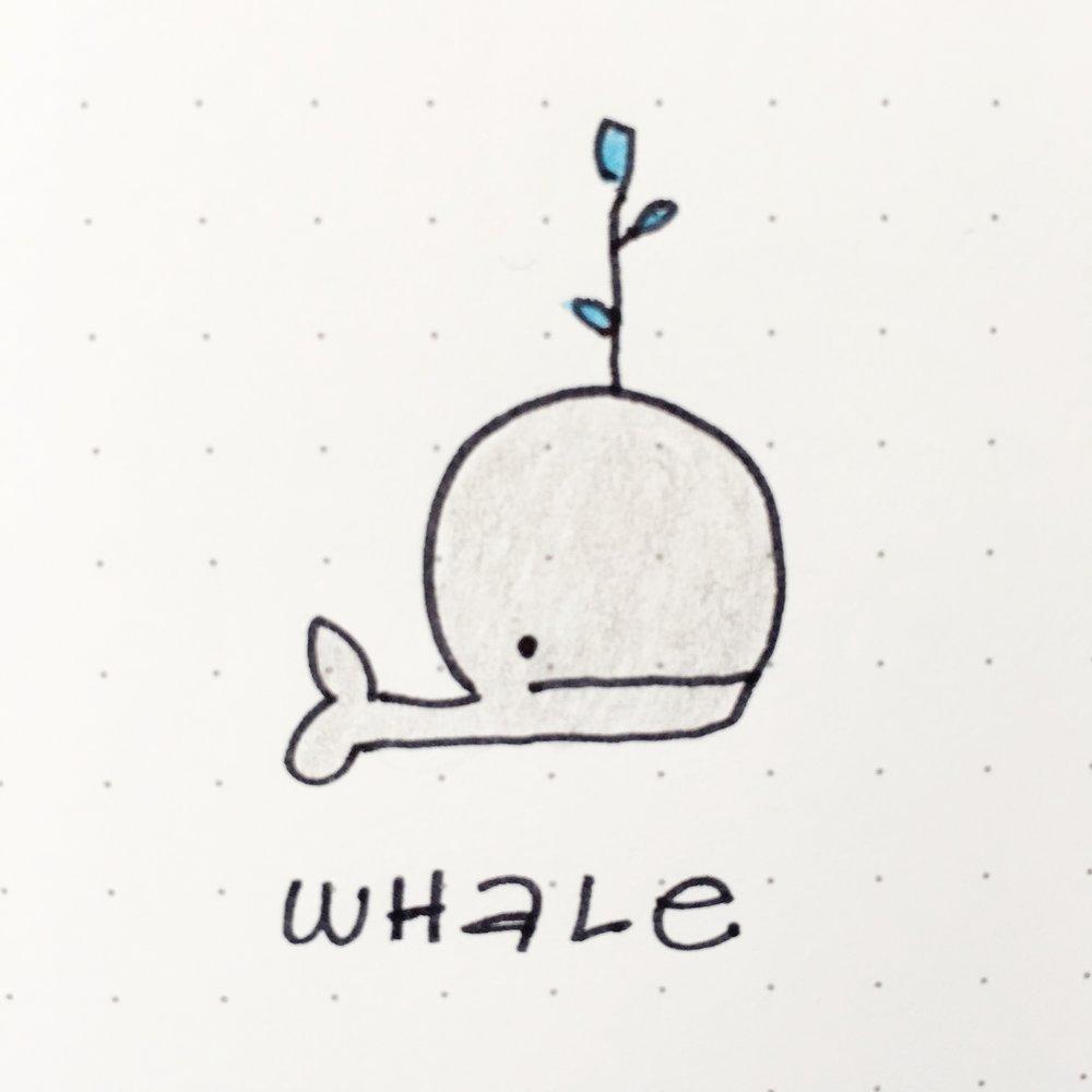 Cute Whale Doodle
