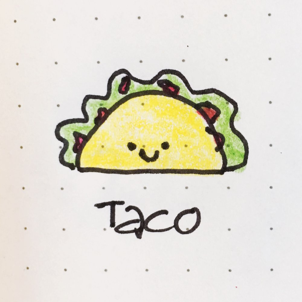 Doodle of the Day: a crispy taco! 🌮