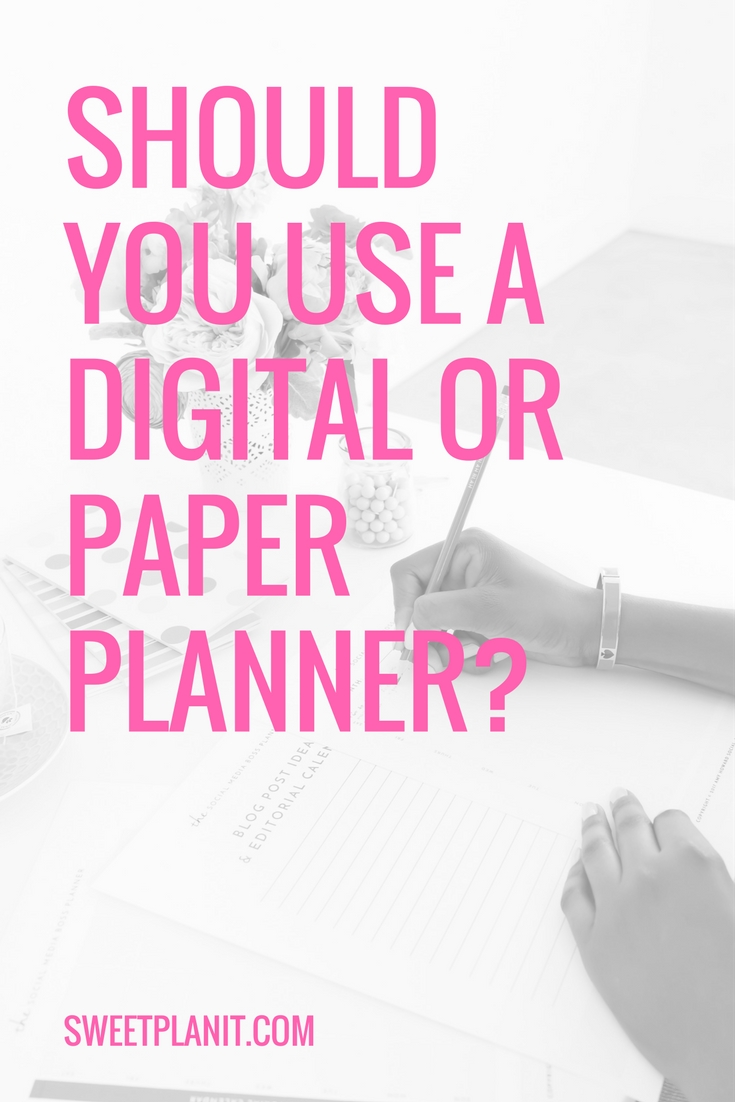 Which is really better: Paper vs. Digital Planner?