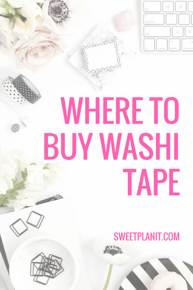 Where to buy washi tape
