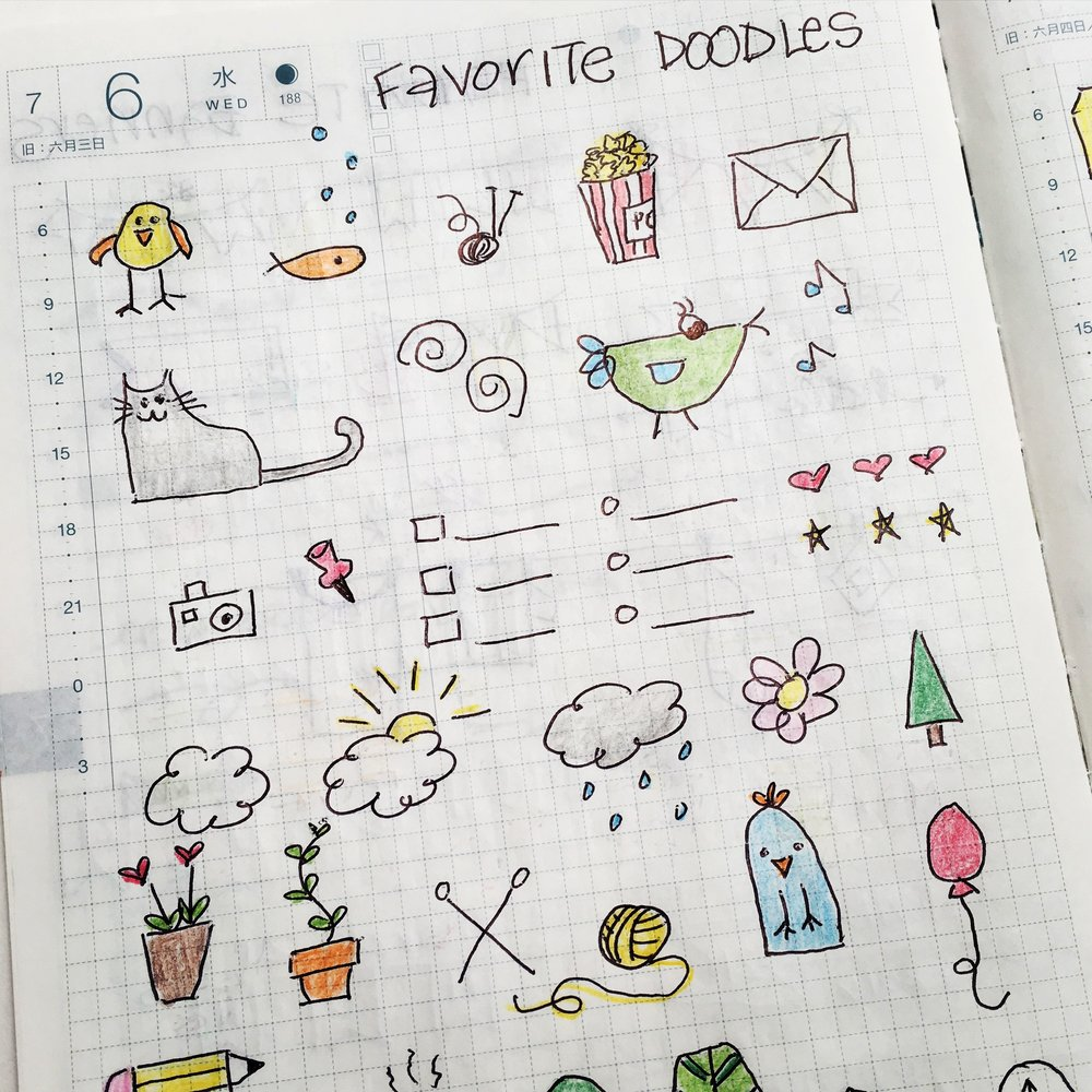 Favorite Bullet Journal Doodles