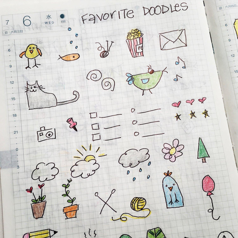 Genoeg Bullet Journal Doodle Ideas — Sweet PlanIt #UF82
