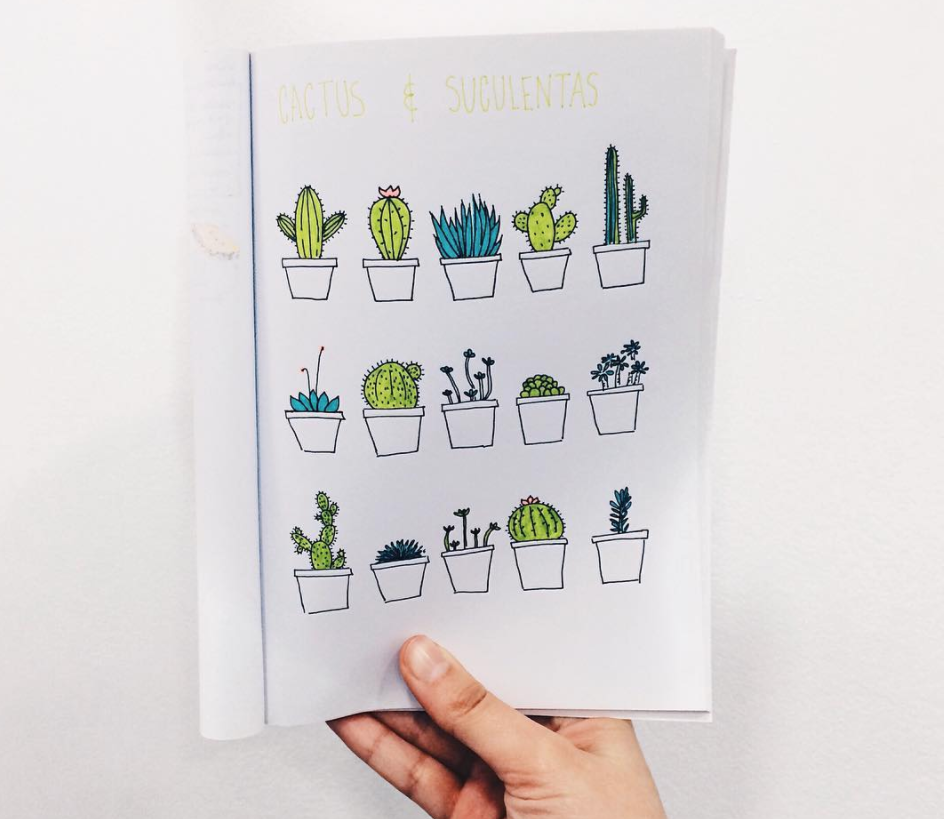 bullet journal page ideas, Bullet journal weekly spread, Cute bullet journal plant doodles you can draw!