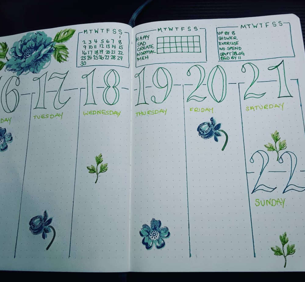 Weekly Layout Ideas for Your Bullet Journal