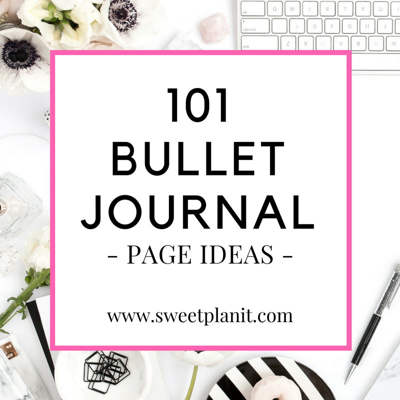 101 Bullet Journal Page Ideas