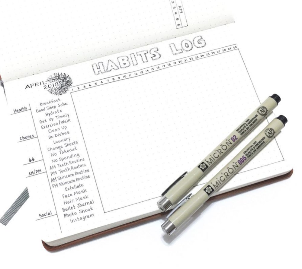 Keep Track of Habits in a Minimalist Bullet Journal