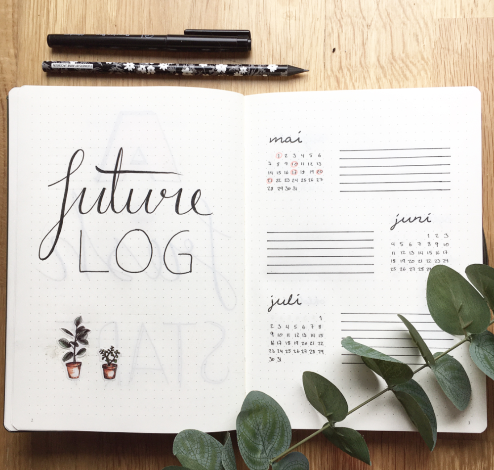 Future Log Layouts for Bullet Journals