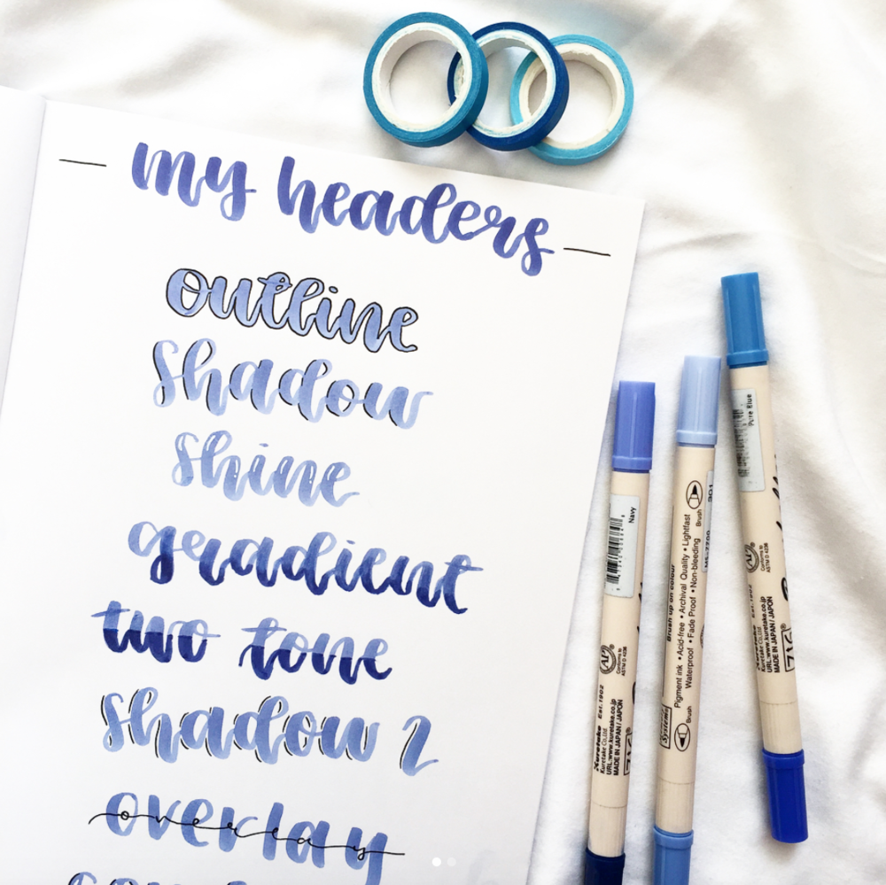 Headers you can use in your bullet journal