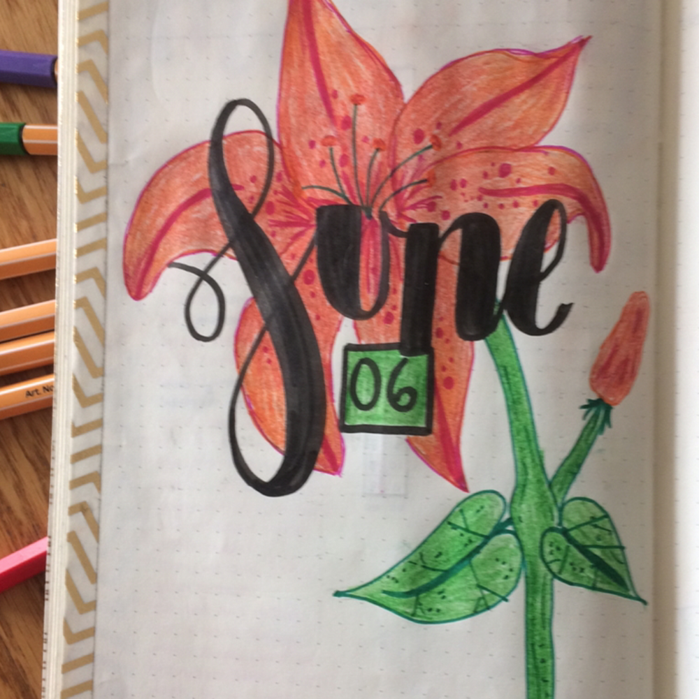 June Bullet Journal Spreads