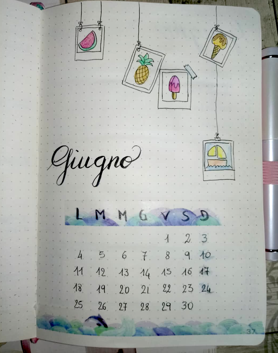 Inspiring June Monthly Calendar Spreads