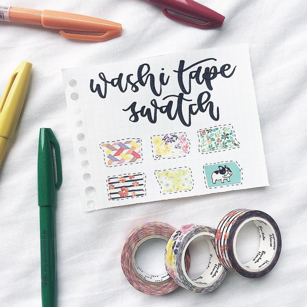 How to Keep Track of Washi Tape in your Bullet Journal