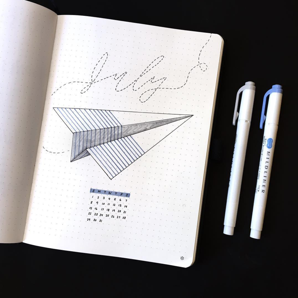Bullet Journal Layout Ideas for July!