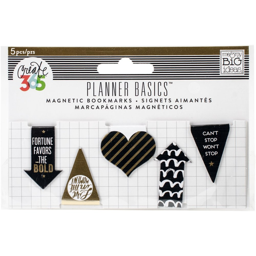 Black & Gold Magnetic Markers