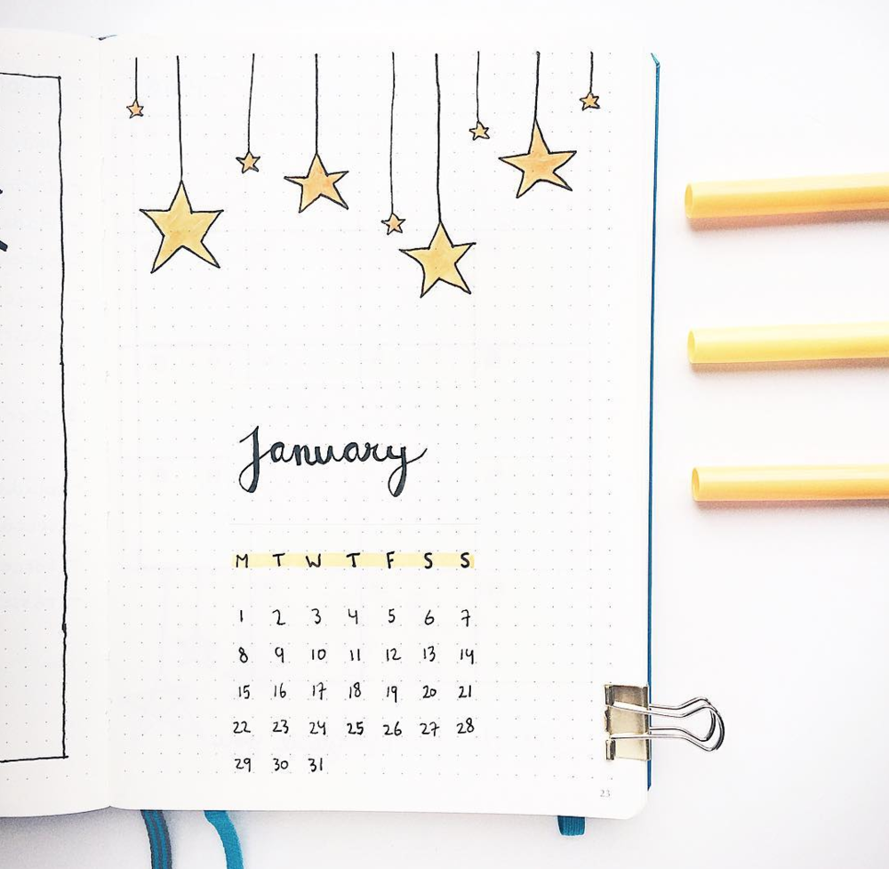 January Bujo Spread Inspiration