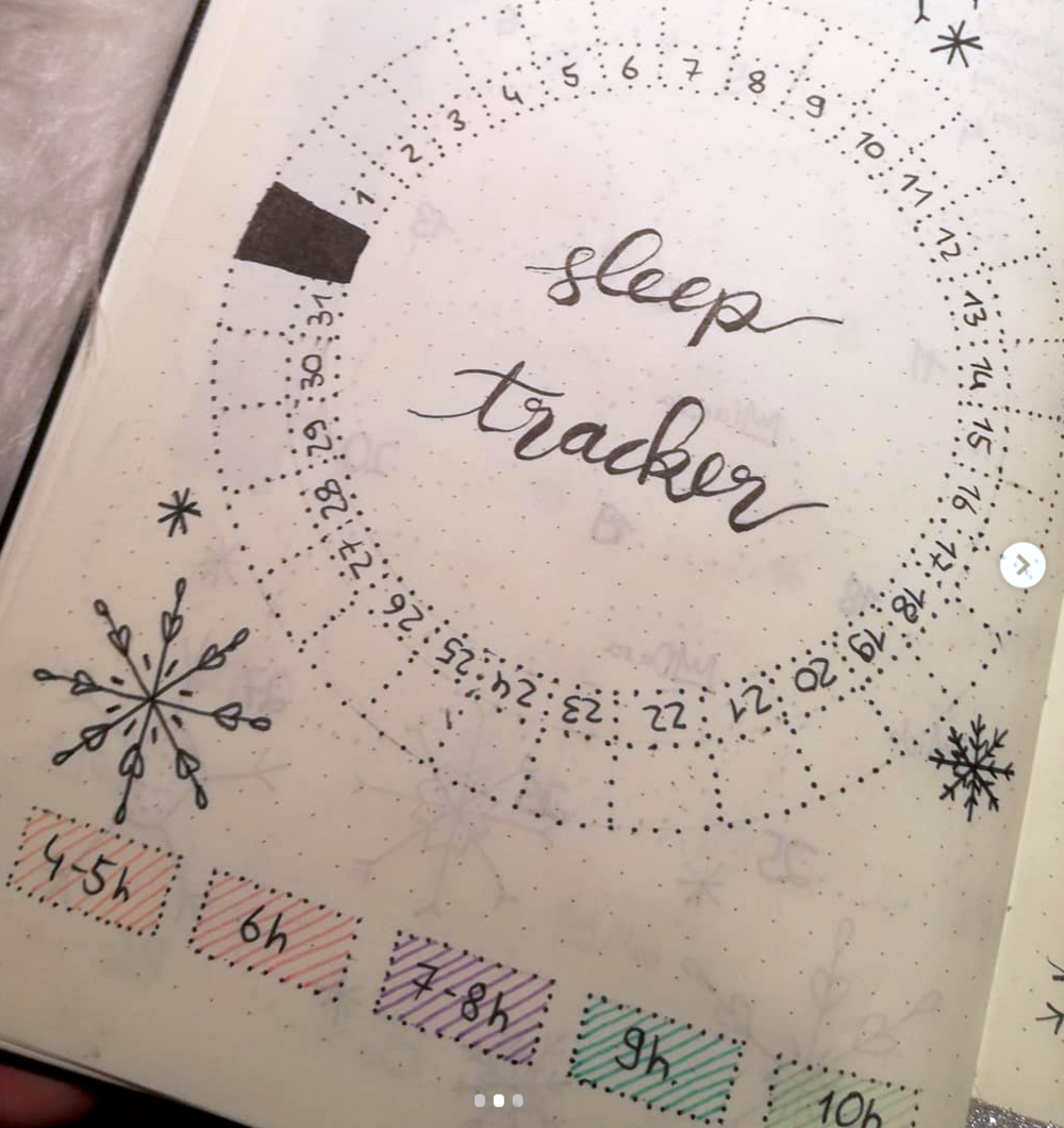 Get more rest! Track your sleep habits in your bujo