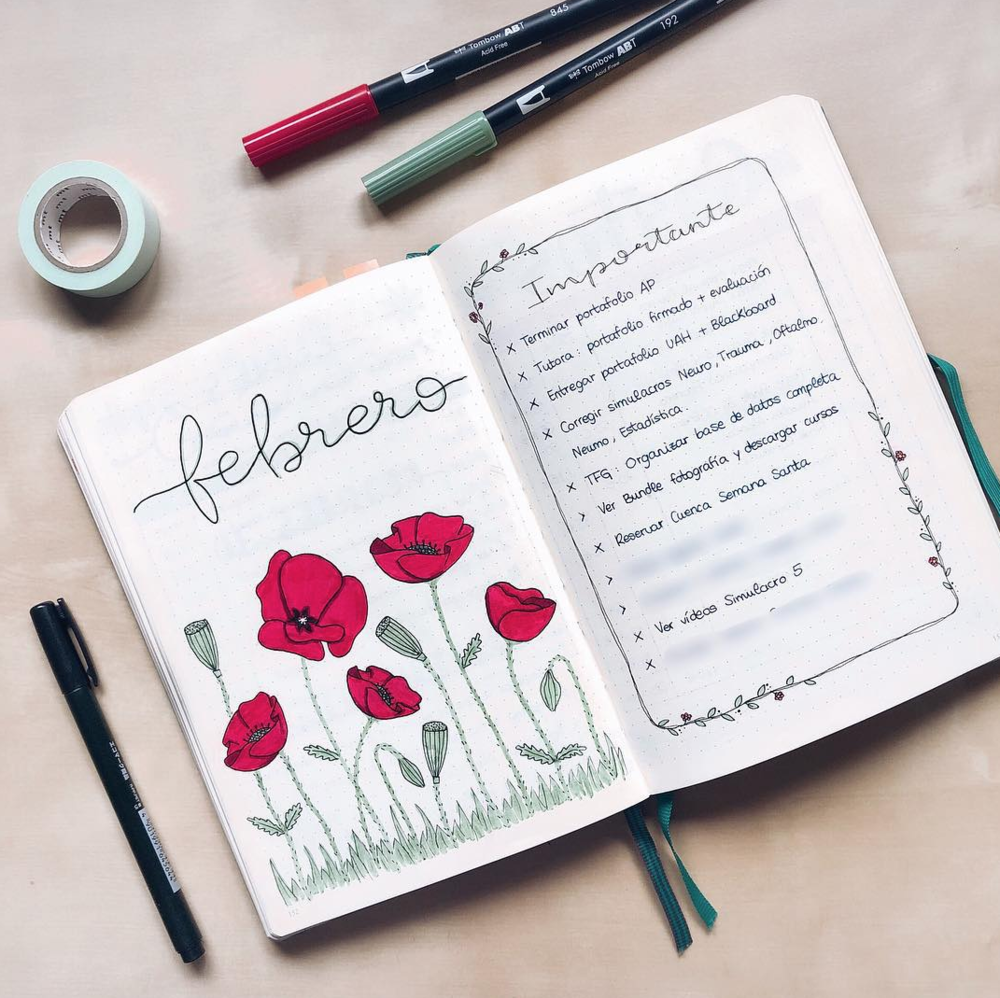 What to Put on Your February Bullet Journal Pages