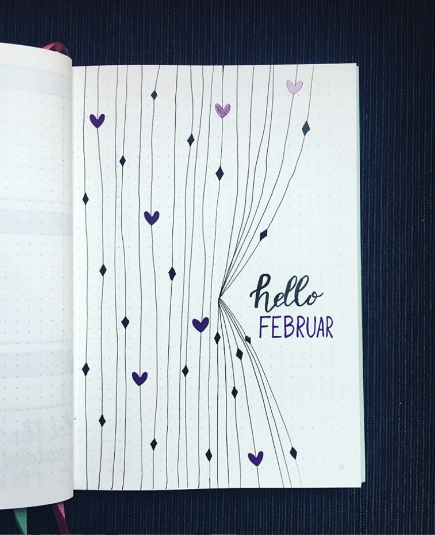 Bullet Journal Spreads for February
