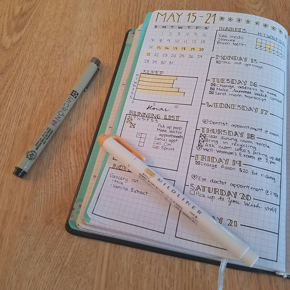 One Week On One Page - Bullet Journal Ideas!